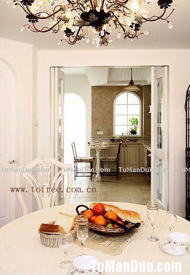 温馨欧式大户型厨房实景图 别墅图片大全 别墅效果图 别墅