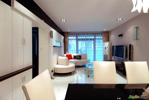 117平2房2厅 单身女孩的私密空间 二室一厅装修效果图 二