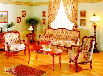 小户型的洛可可宫廷风格室内设计 欧式装修效果图 欧式客