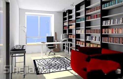 自由组合的书架 让屋内溢满书香 书房装修 书房装修效果