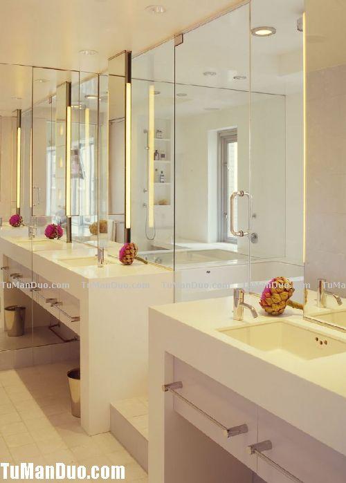 现代美式大户型卫生间实景图 卫浴装修效果图 卫浴门店装