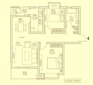 98平简约两房16万装修 业主diy设计 小户型装修效果图大全