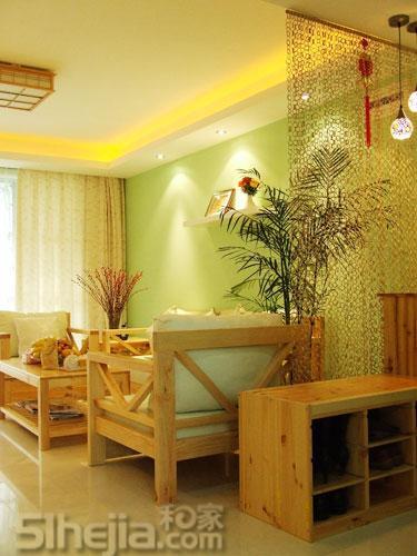 装80平简约2室 打造绿色田园家 小户型装修效果图大全2011图