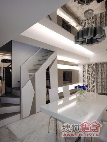19平雅致楼中楼 雕塑家居空间立体感 _样板房设计-房