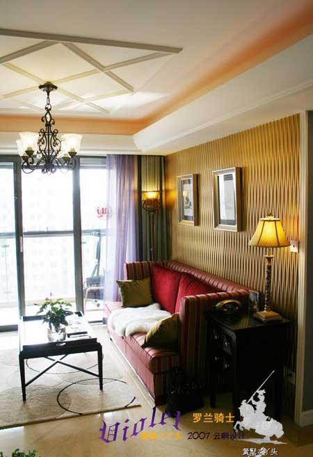 5万装80平米都市时尚1房1厅家小家 一室一厅装修效果图 一