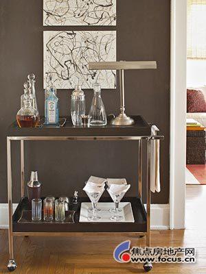 多元素家具打造70平时尚1室1厅 一室一厅装修效果图 一室